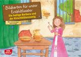Die heilige Barbara und der Kirschblütenzweig. Kamishibai Bildkartenset.