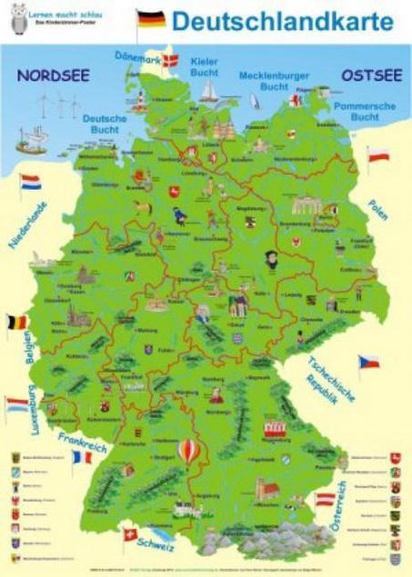 Deutschlandkarte Kita Info Der Onlineshop Fur Erzieherinnen Und