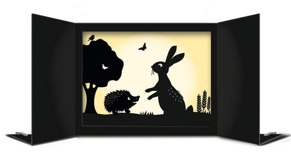 schattentheater f r das schattenspiel in kindergarten und. Black Bedroom Furniture Sets. Home Design Ideas